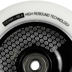 Stuntscooter-Rolle 110mm weiß/schwarz