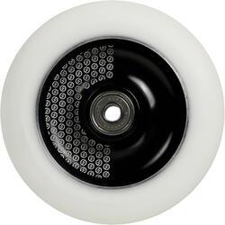 Roda maciça de trotinete freestyle alumínio preto PU branco 110 mm