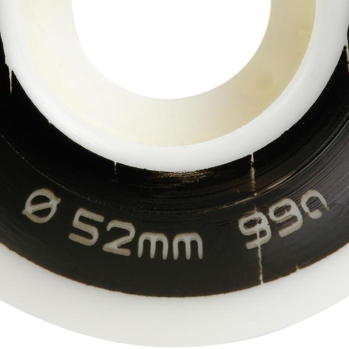 4 RUEDAS DE SKATEBOARD DE 52 mm 99A