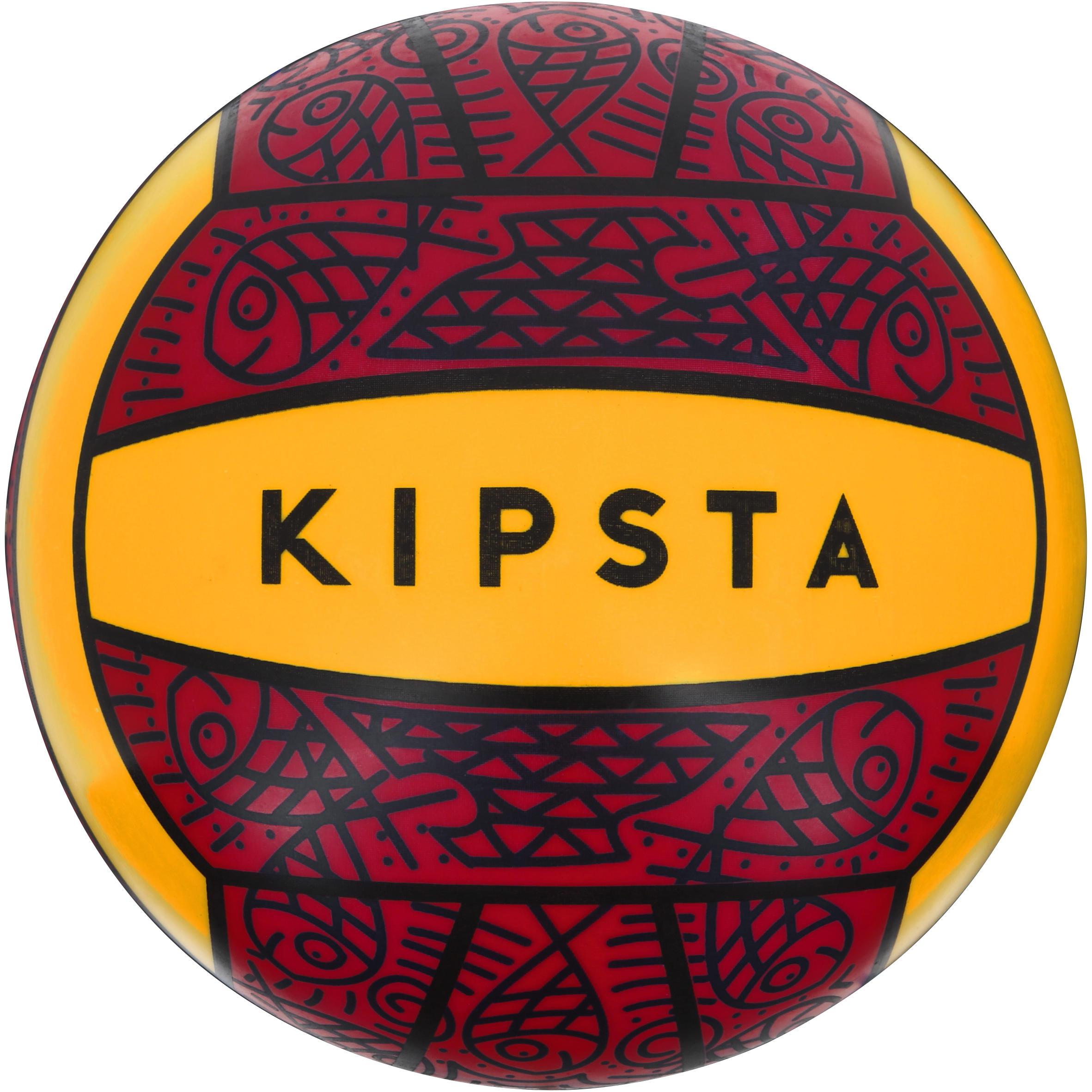Balón de volibol de playa exterior BV 100 rojo amarillo