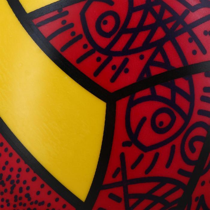 Balón de voley playa exterior BV 100 rojo amarillo