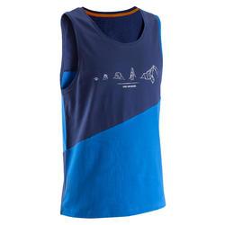 Mouwloos klimshirt voor heren blauw Choose Your Challenge