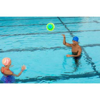 Grand ballon piscine adhérent rainbow vert