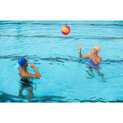 Grand ballon piscine adhérent rainbow rouge