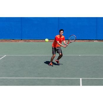 Tennisschoenen voor heren TS990 zwart oranje omni zool