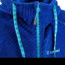Kletter-Fleecejacke mit Kapuze Damen indigoblau