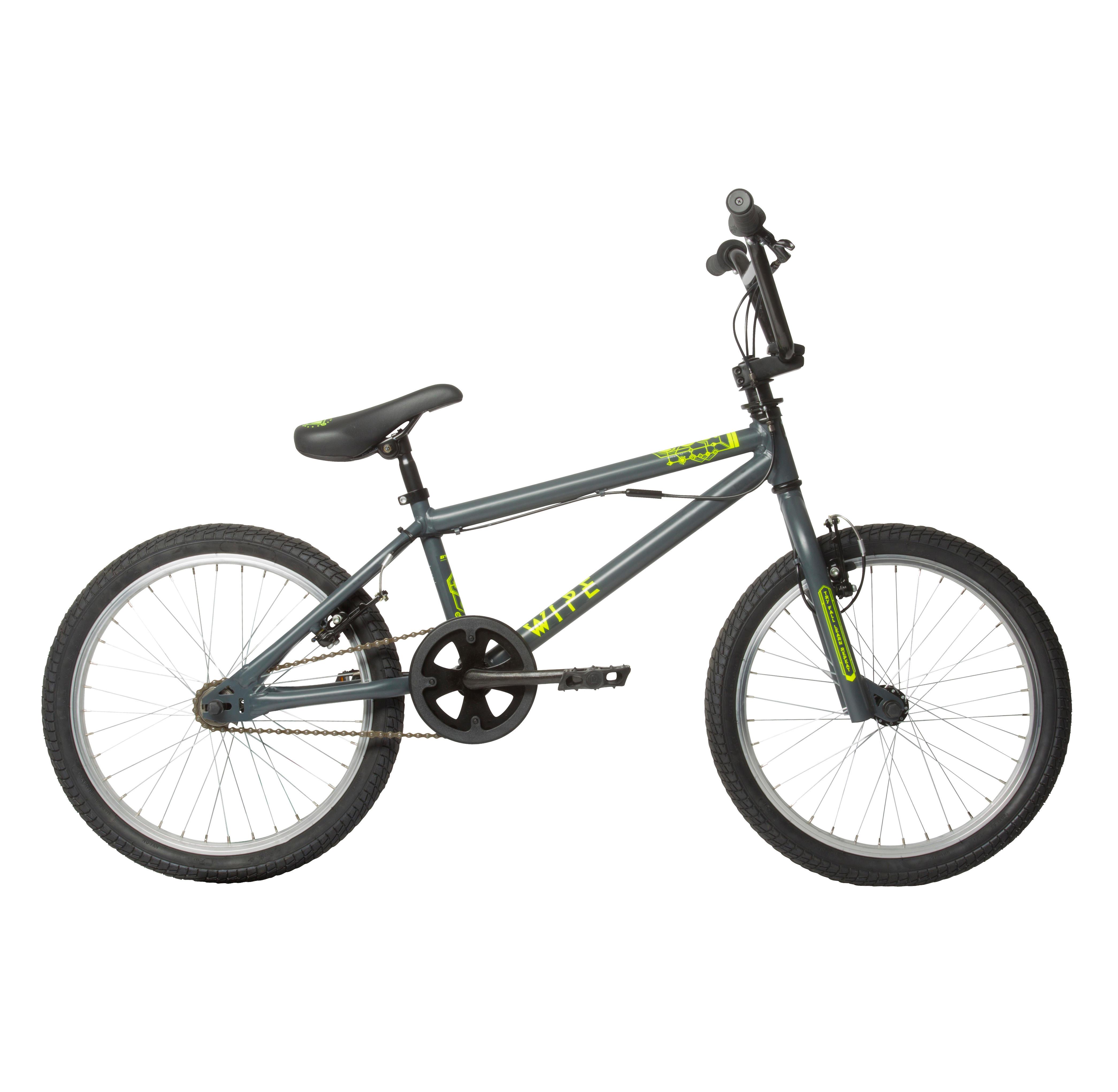 B'twin BMX Wipe 300 donkergrijs - JUNIOR
