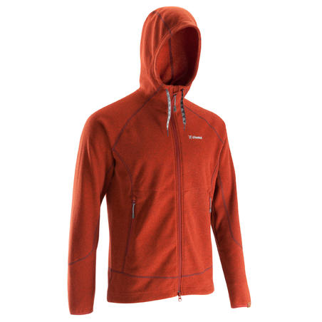 sweat homme hoodie rouge simond
