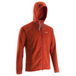 Warme heren hoodie voor klimmen rood