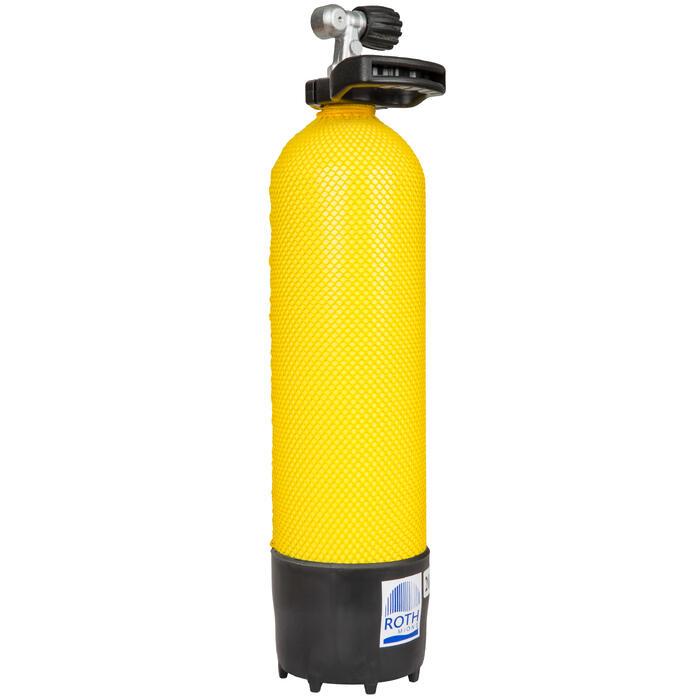 Botella Buceo Roth Mions Imersión Submarina 6 L y 230 Bares Amarillo Negro