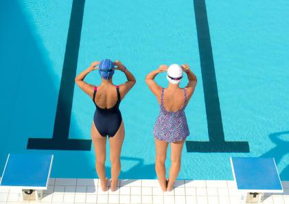beginner swimming