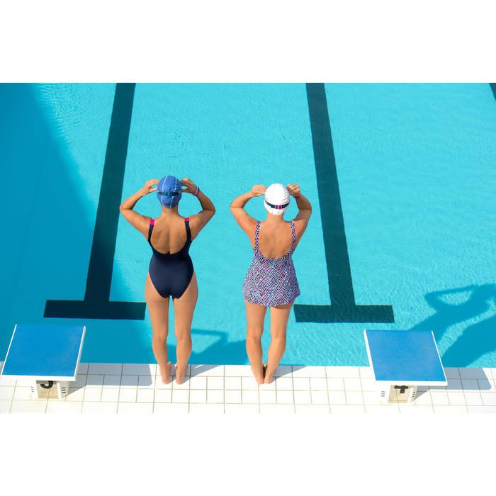 Maillot de bain de natation femme gainant 1 pièce Kaipearl skirt noir