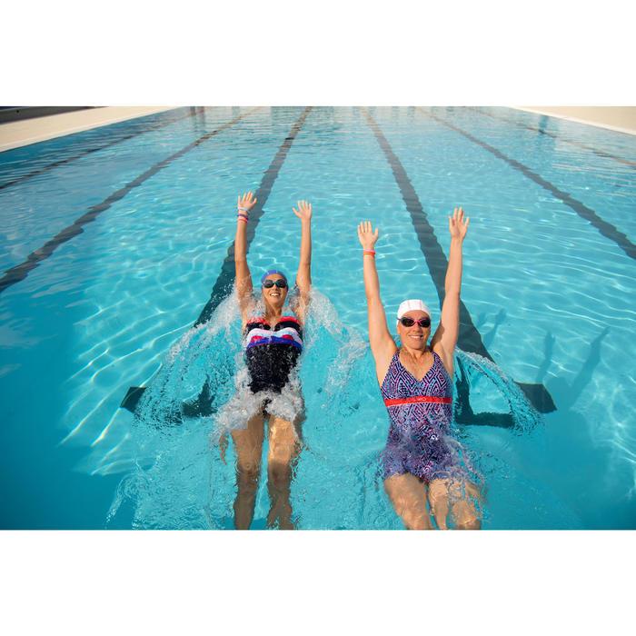 Fato de banho de natação modelador Mulher Kaipearl Saia Preto