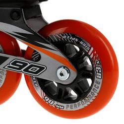 Fitness skates Primo LX 90 voor heren zwart/oranje - 11315
