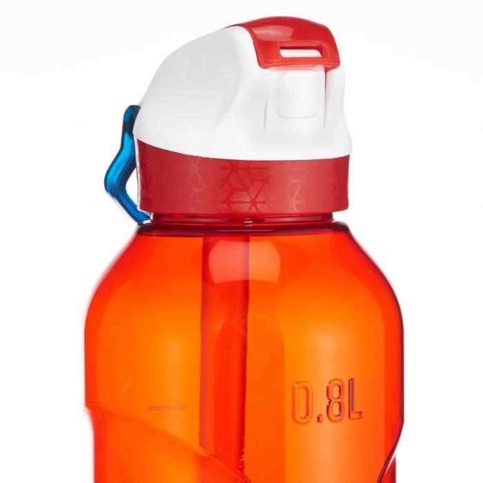 Drinkfles 900 voor wandelen sportdop drinktuitje 0,8 l plastic (tritan) rood