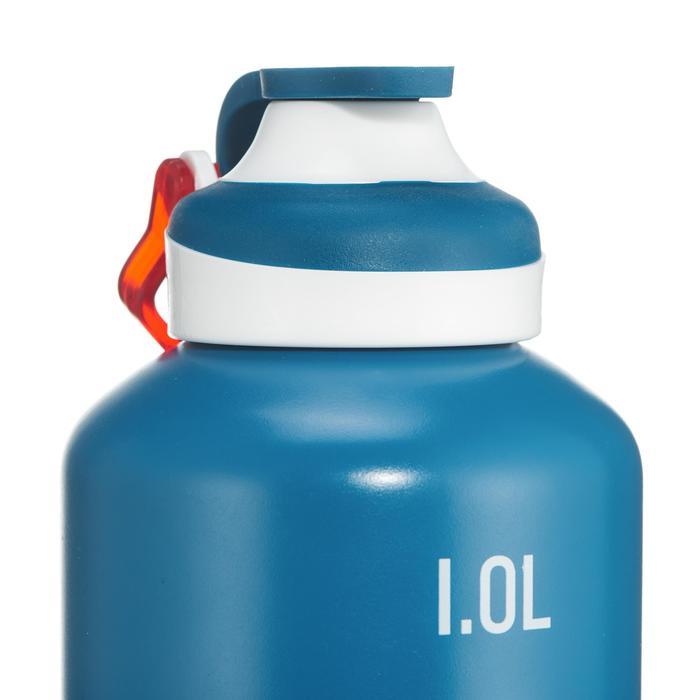 Trinkflasche 500 Schnellverschluß 1Liter Aluminium blau
