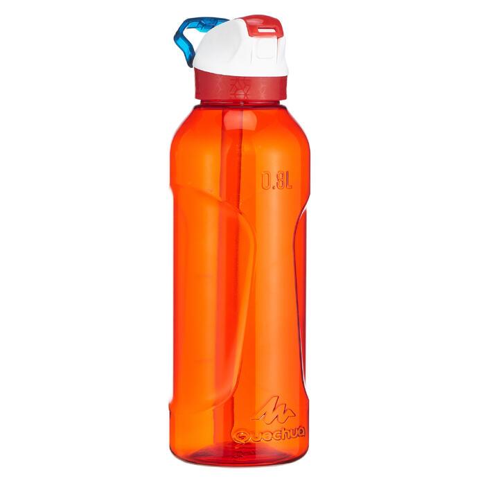 Cantimplora Montaña Quechua Tapón Instantáneo Pipeta 0,8L Plástico(Tritan) Rojo