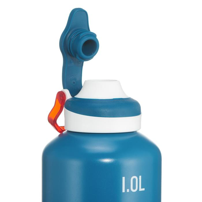 Drinkfles 500 voor wandelen drinkdop 1 liter aluminium blauw