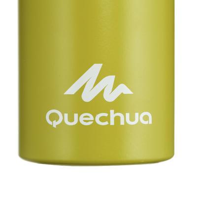 500 Aluminium Hiking Flask With Quick-Open Cap - 1 Litre, Green