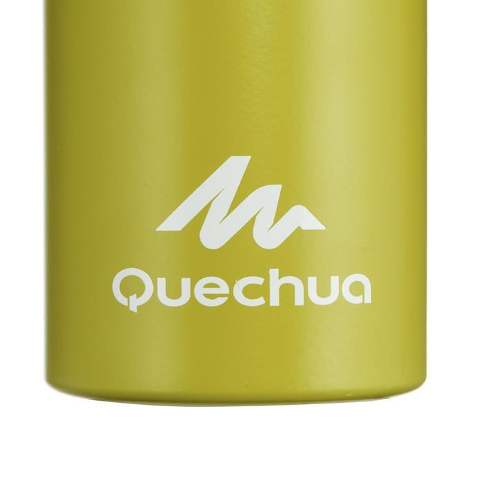 Cantimplora Montaña Quechua 500 Tapón de Apertura Rápida 1L Aluminio Verde