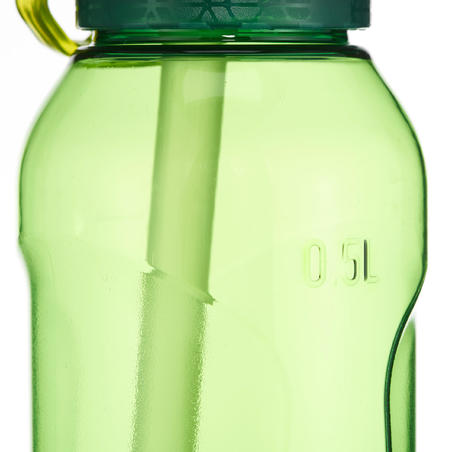 900 (Tritan) 0.5 L Plastic Hiking Water Bottle With Instant Cap Pipette - Green