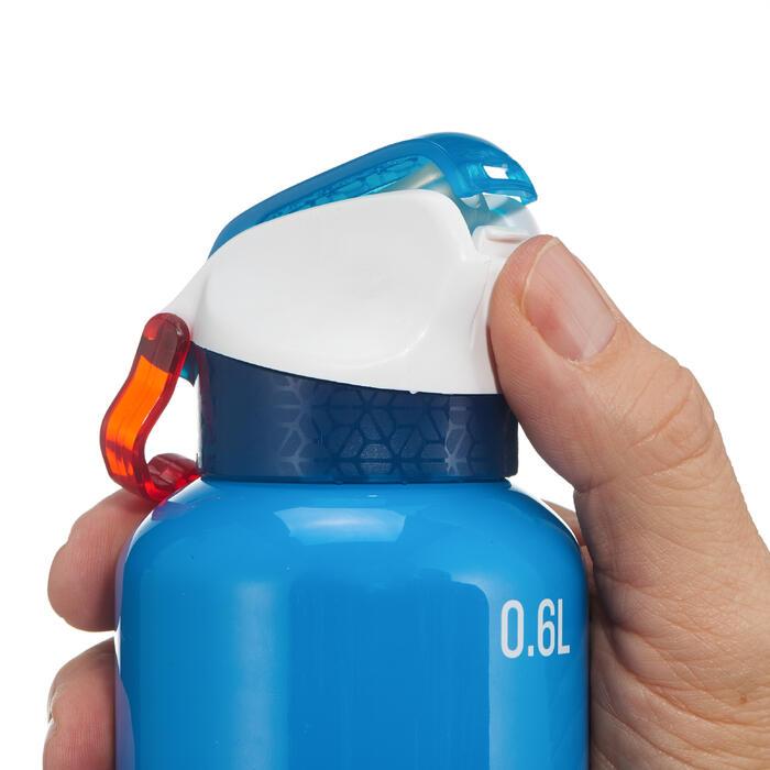 Drinkfles voor wandelingen 900 sneldop met tuitje 0,6 liter aluminium blauw