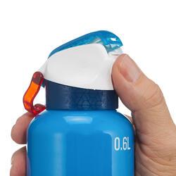Trinkflasche 900 Aluminium Schnellverschluss 0,6L blau