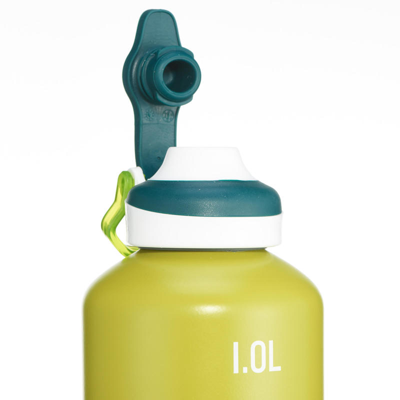 500 Aluminium Hiking Flask With Quick-Open Cap - 1 Litre, Green