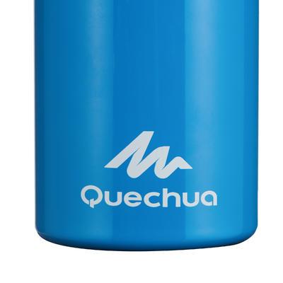 Cantimplora senderismo 900 tapa instantánea con pitillo 0,6 L aluminio azul