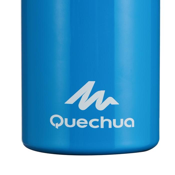 Cantimplora senderismo 900 tapón instantáneo con pipeta 0,6 L aluminio azul