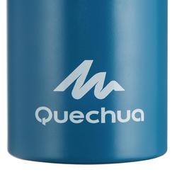Botella p/agua senderismo 500 tapón apertura rápida 1 litro aluminio Azul