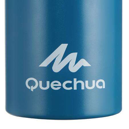 Cantimplora Botella Aluminio Camping Quechua 500 Apertura Fácil 1Litro Azul