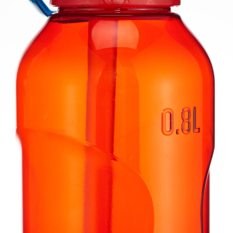 Bottle 0.8L Tritan (Quick-Opening with Straw) - Red