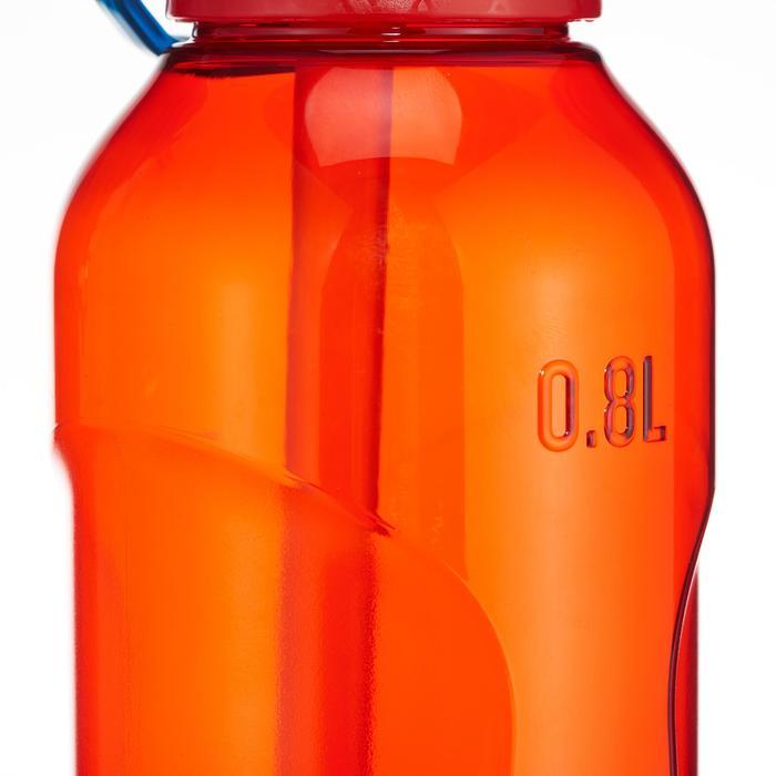 Trinkflasche 900 Kunststoff (Tritan) mit Trinkhalm 0,8l rot