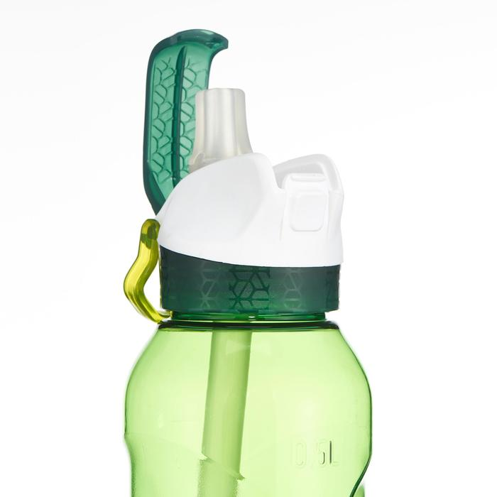 Gourde randonnée 900 bouchon instantané pipette 0,5 L plastique (Tritan) vert