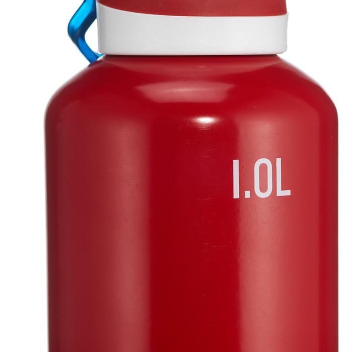 Drinkfles wandelen 500 sneldop 1 liter aluminium rood