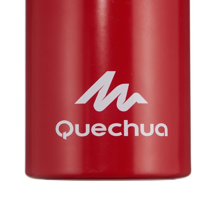 Cantimplora Montaña Quechua 500 Tapón de Apertura Rápida 1L Aluminio Rojo