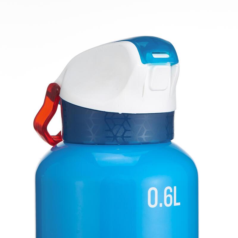 Botella senderismo 900 tapón instantáneo con pipeta 0,6 L aluminio azul