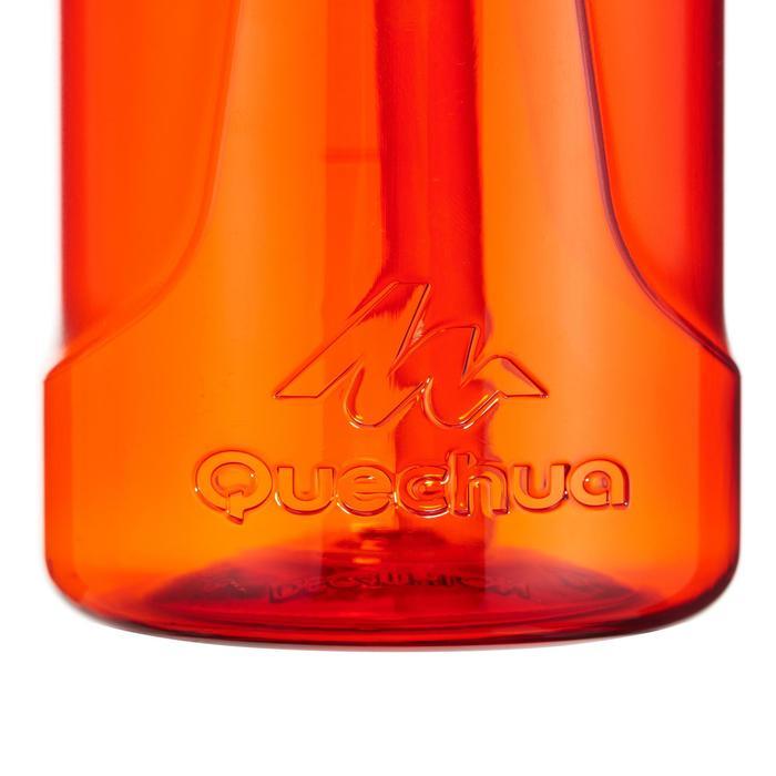 Drinkfles voor wandelingen 900 sneldop drinktuitje 0,8 l plastic (tritan) rood