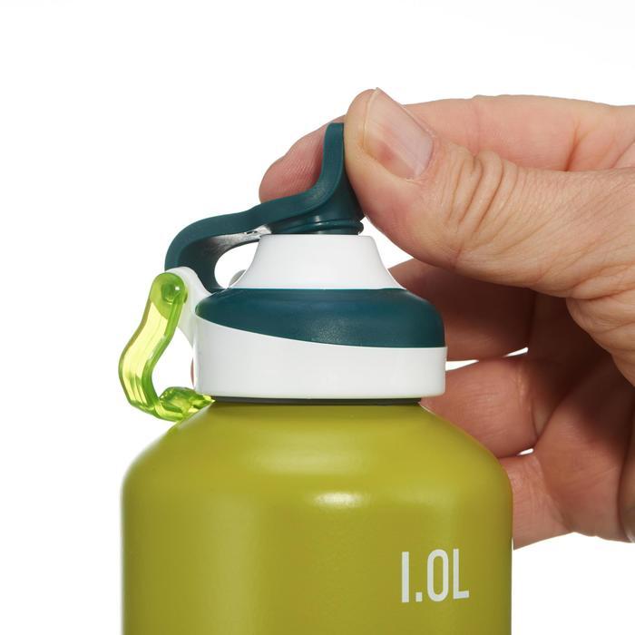 Drinkfles voor wandelingen 500 sneldop 1 liter aluminium groen