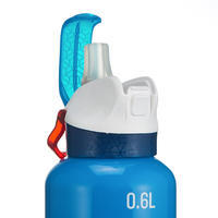 900 0.6L Quick-Opening Aluminium Hiking Bottle - Blue