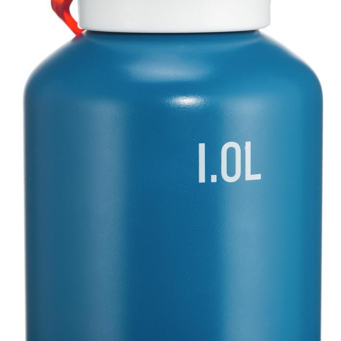 Cantimplora senderismo 500 tapón apertura rápida 1 litro aluminio Azul