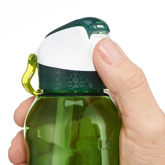 Drinkfles voor wandelingen 900 sneldop drinktuitje 0,5 l plastic (tritan) blauw