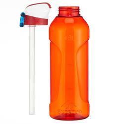 Drinkfles voor trekking 900 met sneldop en strootje 0,8L plastic (Tritan) rood