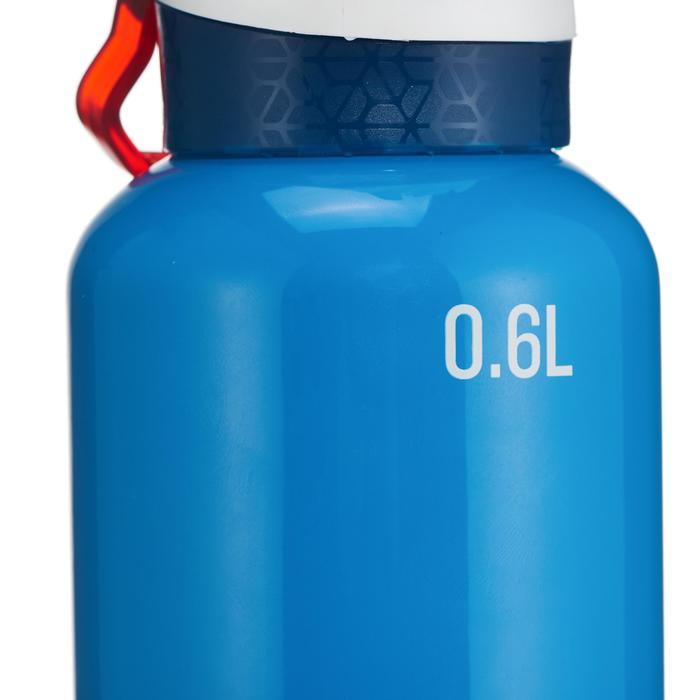 Cantimplora de senderismo 900 tapón instantáneo con pipeta 0,6 L aluminio azul