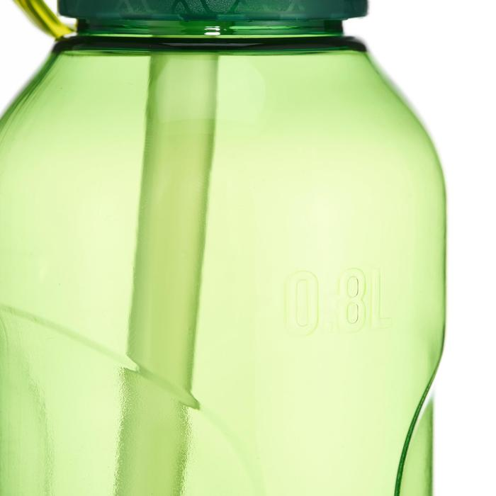 900 Tritan 0.8L Hiking Water Bottle Quick-Opening Top and Drinking Tube - Green