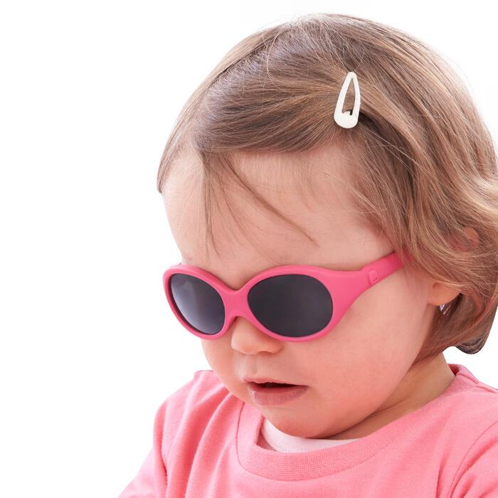 Lunettes de soleil randonnée bébé 6 - 24 mois MH B 500 roses catégorie 4