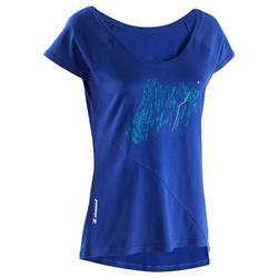 Dames T-shirt Jorasses met korte mouwen donker indigo