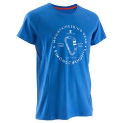 T-shirt Identity merinowol heren blauw
