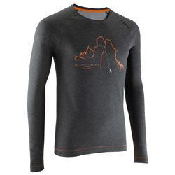 T-shirt LM voor heren grijs Les Drus